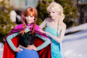 Anna and Elsa of Arendelle by Yuurisans Katsucon 2014 Disney Frozen Cosplay