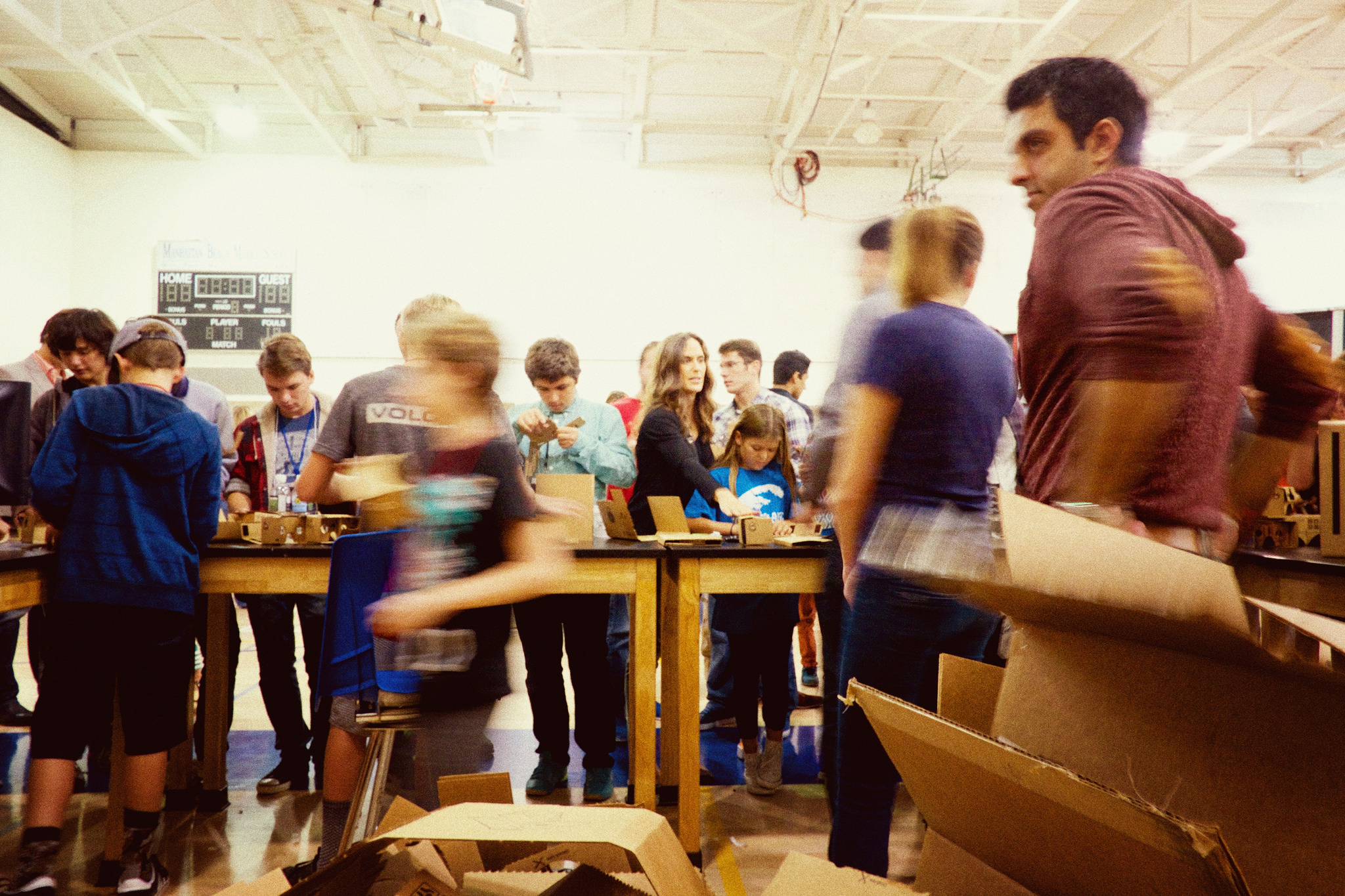 Photo of a makerspace in action.