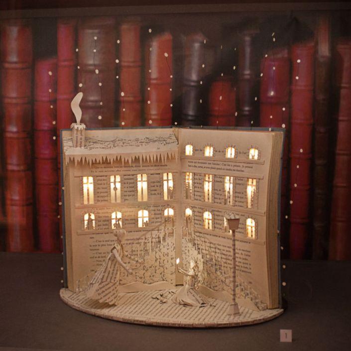 book sculpture night light