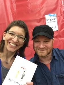 Maria Burnham with Author Steve Brezenoff