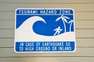 Tsunami sign
